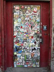 Punk rocker's door