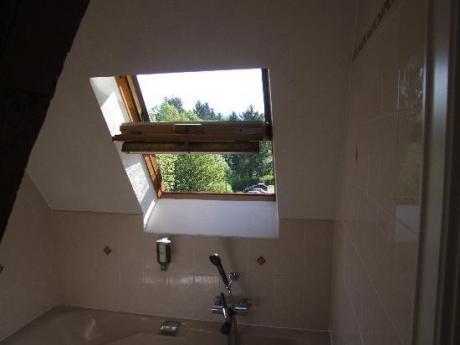 Skylight above tub