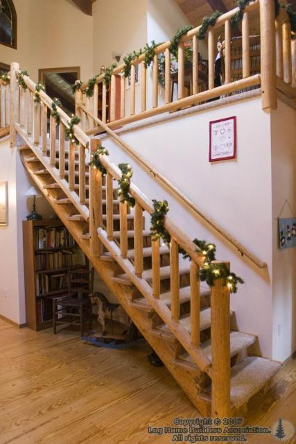 Our stairs at Xmas