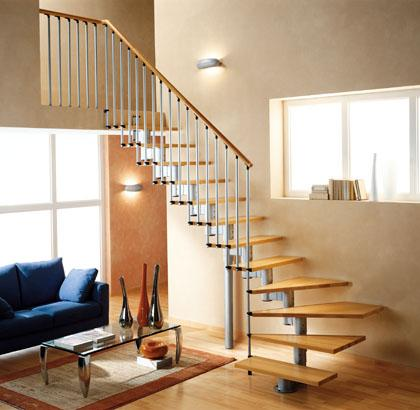 Very cool floating staircase