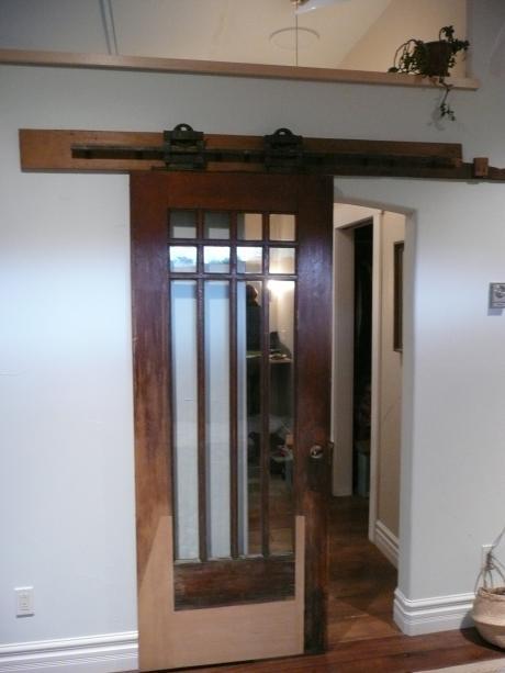 """1912 Salvaged glass """"barn"""" door"""